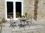 Perfect for breakfast in the garden on a glorious sunny morning, the shared garden is a real suntrap