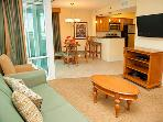 Spacious living area for watching TV or a movie, reading a good book or just relaxing.