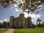 Lulworth Castle and Country Park is open all year and within easy walking distance of The Pink House