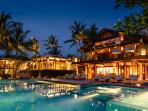 Villa Semarapura - The villa at night
