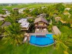 Villa Semarapura - Aerial - High left side of the garden