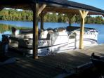 Rent our family/fishing pontoon: $175 for 4 hours,  $225 a day, or $850 a week- 26 gal gas included.