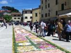 Flowers in the piazza - first weekend in June
