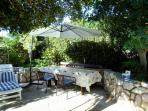 Barbecue corner in the garden