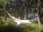 Taking it easy in the hammock, just 30m from La Grange