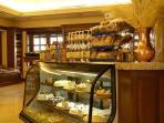 Serveral snack shops offer convenient goodies