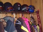 ...coats & helmets, hats & gloves...