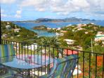 A great view looking out towards St Thomas from Coral's veranda