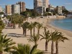 Playa de la Albufereta. A 10 minutos de casa