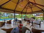 Ombak Laut - Living, pool, gardens and sea