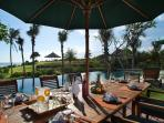 Ombak Laut - Afternoon dining by the pool