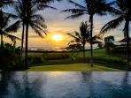 Ombak Laut - Sunset over the pool