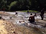 Having a River Bath