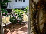 Through front door to garden
