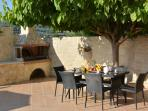 BBQ facilities and shaded dining area at the pool terrace!