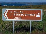 Follow Bertra Strand Sign