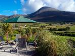 Croagh Patrick view from Bertra Lodge Deck