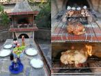 Eat in style with our fabulous brick built BBQ with large back oven
