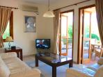 Living area with UK TV channels and free wi-fi
