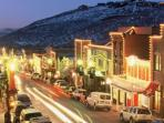 The nightlife and activity on Main Street just steps away from our condo!