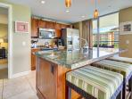 Completely equipped kitchen with separate access to 505sqft lanai!