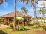 On Anakena Beach you can buy food and beverages ! only 5 minute walking from the camping