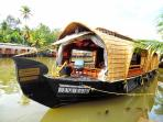 A houseboat in the backwaters