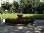 One of Canary Wharf's gardens