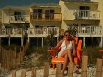 Relax on beach chairs in ur own private back yard on beach