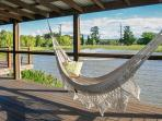 Handmade Brazilian hammocks, large, fully covered wrap-around deck, awesome views