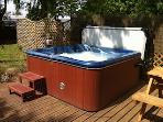 Hot tub in communal, private and secluded garden. Robes available on request, free of charge.