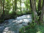 The river Adour which runs below the fields behind our house.  A good place for trout fishing