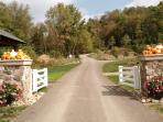 The main gate to Columbia Woodlands, our 400-acre retreat.