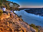 Mount Bonnell offers a scenic view over Lake Austin