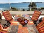 Enjoy your lunch at the huge terrace with wonderful sea view - first floor apt. ALENKA