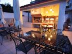 Enjoy in dinner at the new summer kitchen area