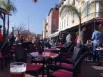 `Al Fresco` dining in Nice old town market place