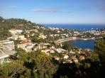 View of St Jean Cap Ferrat, from Villefranche