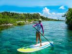 Venture into YalKu lagoon with the paddleboards, snorkel gear, lifejackets, reef shoes (all incl.)