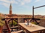 View of San Marco's Campanile from the altana Terrace