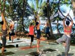 Guests receive a free yoga class & discounted lessons