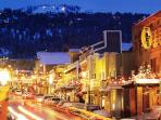 Park City Main Street just 6 blocks from the condo (free shuttle bus takes you there too!)
