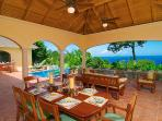 The Peace and Plenty lanai offers a majestic setting to enjoy St. John's Caribbean beauty!