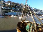 East Looe quay, the fishing boats bring in their catch for the local restaurants.