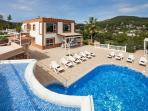 This large villa 10 minutes from Ibiza Town has a stunning private pool and magnificent views