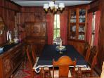 Formal Dining Room with original pine woodwork
