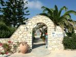 Main entrance to the garden of Villa Viglakia