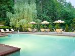 One of two heated pools, outside hot tubs and sauna