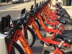 Capital BikeShare station near rental