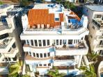 Arial View - 5 Story Hillside Villa